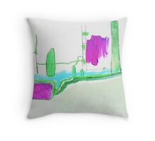 Memory Trace 1 Throw Pillow