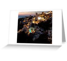 NIGHT IN GREECE Greeting Card