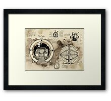 Time Machine sketches Framed Print