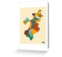 BOSTON NEIGHBORHOODS Greeting Card