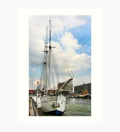 About Holland.. Scheveningen ..suburb of The Hague Art Print