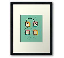 DIAGRAM #2 Framed Print