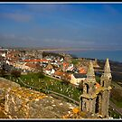 Views from St Rule's Tower over St Andrews by Shaun Whiteman
