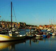 Inner Harbour, Whitby, North Yorkshire by Carl Young