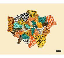 LONDON BOROUGHS MAP Photographic Print