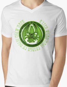 Invoking Cthulhu Mens V-Neck T-Shirt