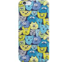 Sketch colorful cat pattern iPhone Case/Skin