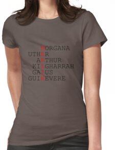 MERLIN Wordplay Womens Fitted T-Shirt