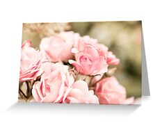 Vintage roses bouquet sepia toned Greeting Card
