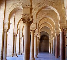 Archways and Columns of the Great Mosque of Kairouan in Tunisia by HotHibiscus