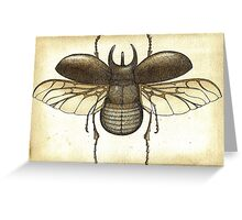 Atlas Beetle Chalcosoma Greeting Card