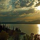 Sunset at Lake Garda by Arie Koene