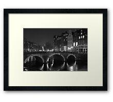 Frozen Amsterdam Framed Print