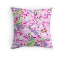 Peony pattern Throw Pillow