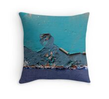 Peeling Blue Throw Pillow