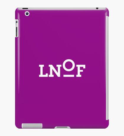 LNOF White Logo on Aubergine Purple iPad Case/Skin