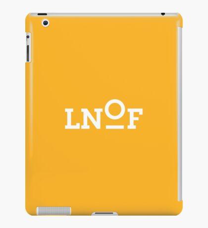 LNOF White Logo on Orange iPad Case/Skin