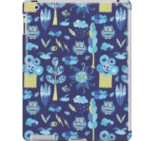Funny kids background with forest life iPad Case/Skin