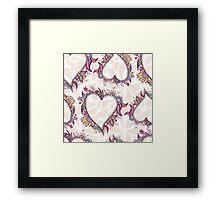 Blossoming Heart pattern Framed Print