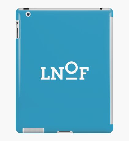 LNOF White Logo on Calm Blue iPad Case/Skin