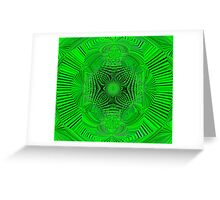 Mean Green Greeting Card