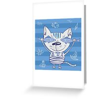 Sea cat illustration  Greeting Card