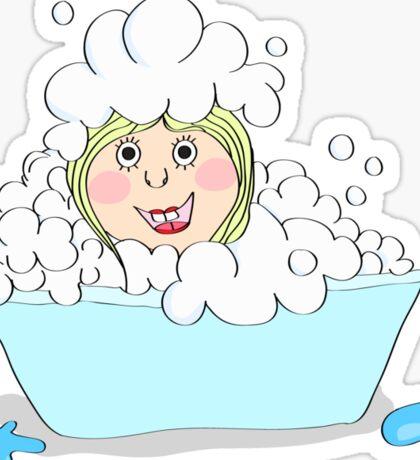 Baby-girl in foam  Sticker