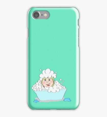 Baby-girl in foam  iPhone Case/Skin