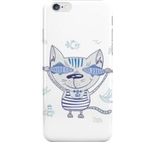 Sea cat illustration  iPhone Case/Skin