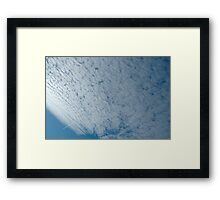 Mackeral sky with contrail Framed Print