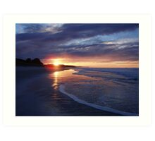 Sunrise at Ocean View Beach - Near Dunedin Art Print