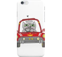 Cat on the car iPhone Case/Skin