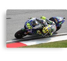 Valentino Rossi Yamaha MotoGP Canvas Print
