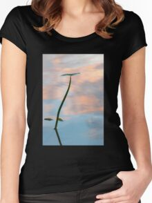 Sunset silhouette Women's Fitted Scoop T-Shirt