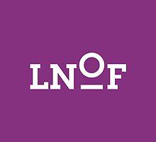 LNOF White Logo on Aubergine Purple by LNOF