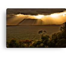 Let There Be Light - Capertee Valley - Gardens Of Stone National Park - The HDR Experience Canvas Print