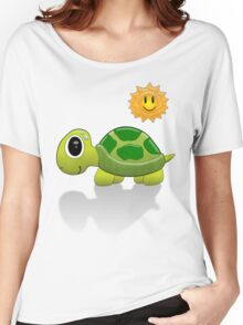 Sun Turtle Tee Women's Relaxed Fit T-Shirt