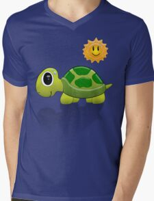 Sun Turtle Tee Mens V-Neck T-Shirt