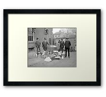 Prohibition Agents with Moonshine Still, 1922 Framed Print
