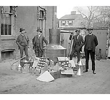 Prohibition Agents with Moonshine Still, 1922 Photographic Print