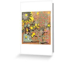 Machine wood Greeting Card