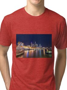 Yarra River at night Tri-blend T-Shirt