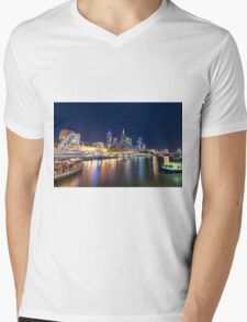 Yarra River at night Mens V-Neck T-Shirt