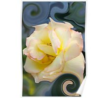 abstract roses in the garden Poster