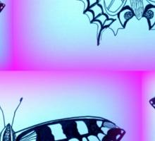 Purple and Blue Sticker