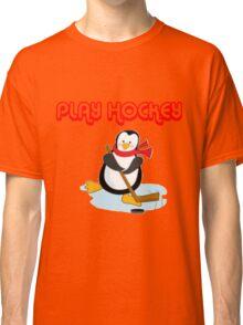 play hockey penguin Classic T-Shirt