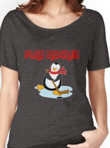 play hockey penguin Women's Relaxed Fit T-Shirt