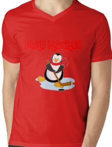 play hockey penguin Mens V-Neck T-Shirt