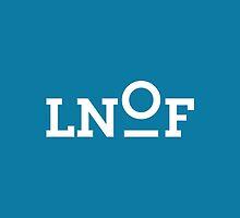 LNOF White Logo on Calm Blue by LNOF