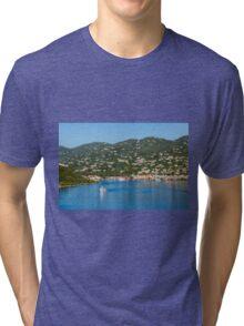 Ferry in St Thomas Tri-blend T-Shirt